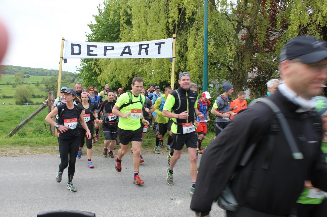 Départ trail 32 km Beaussault - mai 2017