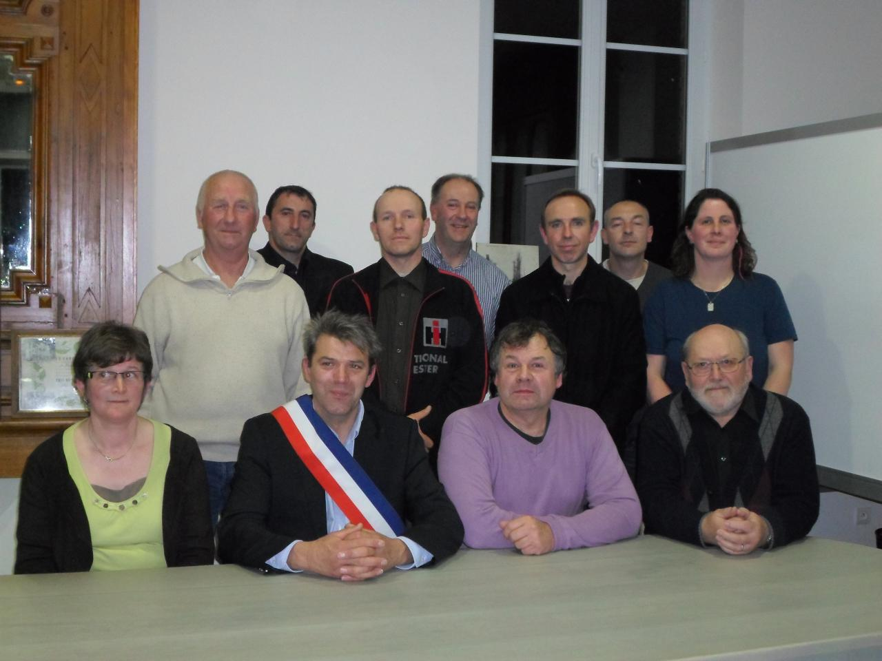 Conseil municipal élu en 2014
