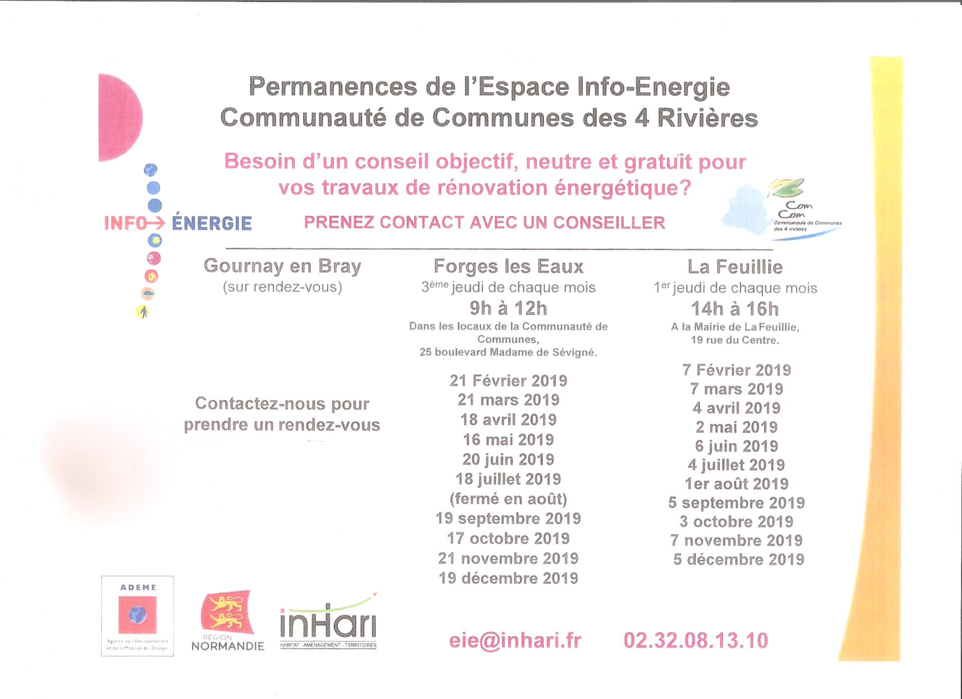 Permanences info énergie