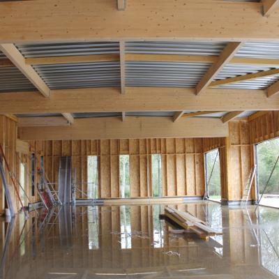 la grande salle en construction